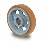 Drivhjul, Hjulfælg Vulkollan® Bayer hjulbane støbegods, Ø 180x50mm, 750KG