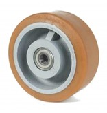 Hårde hjul Vulkollan® Bayer hjulbane støbegods, DIN-kugleleje, Hjul-Ø 500mm, 50KG