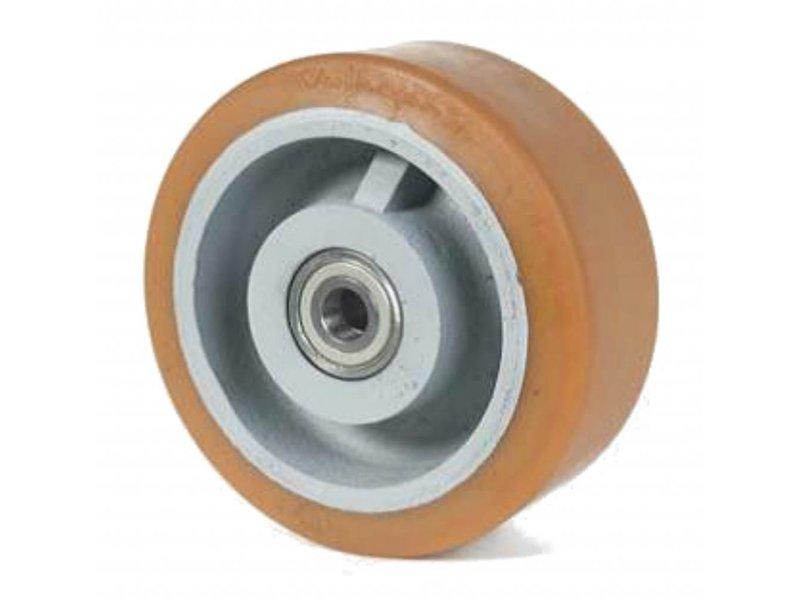 Zestawy kołowe ciężkie, spawane Vulkollan® Bayer opona litej stali, Precyzyjne łożysko kulkowe, koła / rolki-Ø500mm, 50KG