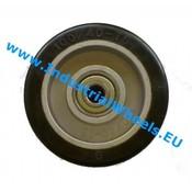 Hjul, Ø 125mm, Elastisk gummi, 200KG