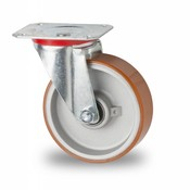 Swivel caster, Ø 125mm, Vulcanized Polyurethane tread, 200KG