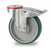drejelig hjul  med bremse, Ø 160mm, polyuretan, 300KG