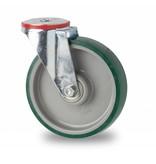 Transporthjul drejelig hjul  af Stål, boltmontering, polyuretan, kugleleje, Hjul-Ø 160mm, 300KG