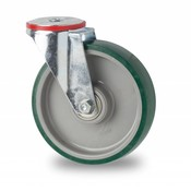 rolka skretna, Ø 100mm, wtryskiwanego poliuretanu, 150KG