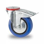 swivel castor with brake, Ø 125mm, elastic-tyre, 150KG