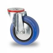 drejelig hjul , Ø 125mm, elastisk gummi, 150KG