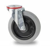 Lenkrolle, Ø 100mm, Elastik-reifen, 150KG