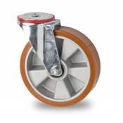 drejelig hjul , Ø 200mm, vulkaniseret polyuretan, 400KG