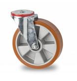 Transporthjul drejelig hjul  af Stål, boltmontering, vulkaniseret polyuretan, kugleleje, Hjul-Ø 160mm, 300KG