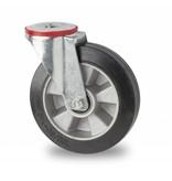 Transporthjul drejelig hjul  af Stål, boltmontering, elastisk gummi, kugleleje, Hjul-Ø 160mm, 300KG