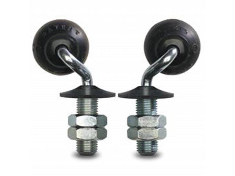 drejelig hjul  drejelig hjul  af , tapbefæstigelse, elastisk gummi, glideleje, Hjul-Ø 35mm, 12KG