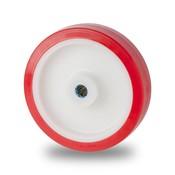Hjul, Ø 125mm, polyuretan, 400KG