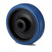 Hjul, Ø 100mm, elastisk gummi, 160KG