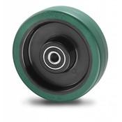 Hjul, Ø 200mm, vulkaniseret gummi elastisk dæk, 400KG