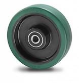 Zestawy kołowe transportowe Koła z elastycznej gumy wulkanizowanej, Precyzyjne łożysko kulkowe, koła / rolki-Ø100mm, 150KG