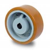 Drivhjul, Hjulfælg Vulkollan® Bayer hjulbane støbegods, Ø 250x80mm, 1650KG