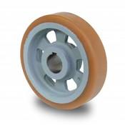 Drivhjul, Hjulfælg Vulkollan® Bayer hjulbane støbegods, Ø 125x40mm, 450KG