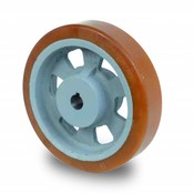 Drivhjul, Hjulfælg Vulkollan® Bayer hjulbane støbegods, Ø 100x40mm, 350KG