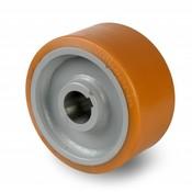 Drivhjul, Hjulfælg Vulkollan® Bayer hjulbane kerne af stål Svejste, Ø 600x150mm, 6900KG