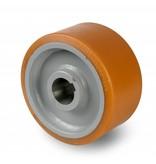 Schwerlast Räder und Rollen Antriebsräder Vulkollan® Bayer  Lauffläche Radkörper aus Stahlschweiß, H7-Bohrung Bohrung mit Paßfedernut DIN 6885 JS9, Rad-Ø 400mm, 1800KG
