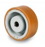 Schwerlast Räder und Rollen Antriebsräder Vulkollan® Bayer  Lauffläche Radkörper aus Gußeisen, H7-Bohrung Bohrung mit Paßfedernut DIN 6885 JS9, Rad-Ø 200mm, 1200KG