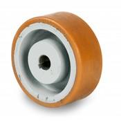 Drivhjul, Hjulfælg Vulkollan® Bayer hjulbane støbegods, Ø 125x40mm, 400KG