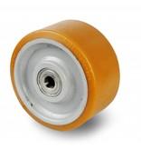 Zestawy kołowe ciężkie, spawane Vulkollan® Bayer opona, korpus odlewana z stalowej spawane, Precyzyjne łożysko kulkowe, koła / rolki-Ø250mm, 500KG
