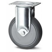 Fast hjul, Ø 150mm, grå termoplastisk gummi afsmitningsfri, 120KG