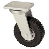 Drejeligt hjul med super elastisk gummi hjul 305 mm, bæreevne: 535 kg ved 6 km / t