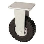 Fast hjul med super elastisk gummi hjul 305 mm, bæreevne: 535 kg ved 6 km / t
