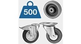 Castors With Solid Rubber Wheels
