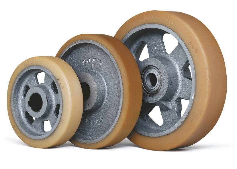 How to calculate the needed load capacity of wheels with Polyurethane (Vulkollan) tyres?