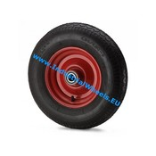 Wheel, Ø 300mm, pneumatic tyre block profile, 300KG