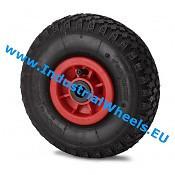Hjul, Ø 260mm, Dæk blokprofil, 150KG