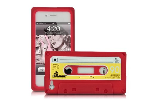 Силиконовый чехол кассета 90-е для iPhone 4/4S Красный