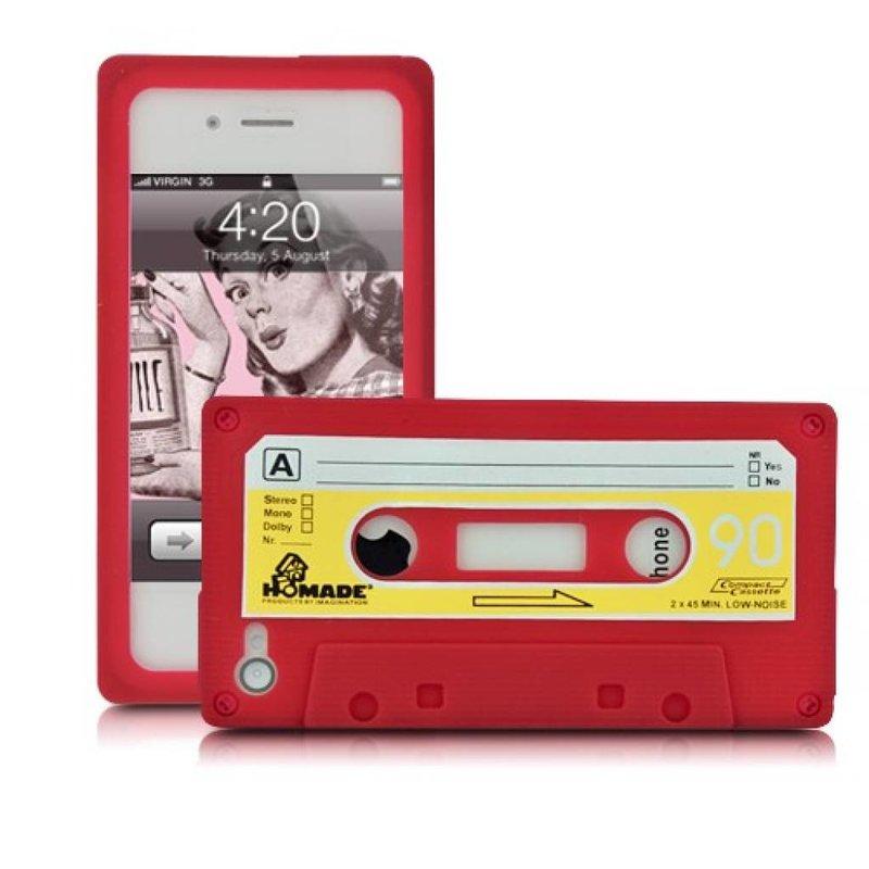 Чехол кассета 90-е для iPhone 4/4S Красный