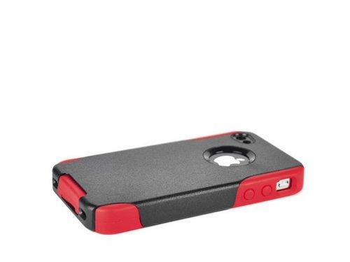 Пластиково силиконовый чехол для iPhone 4/4s Черный