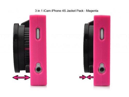 3 в 1 iCam розовый чехол для iPhone 4/4s