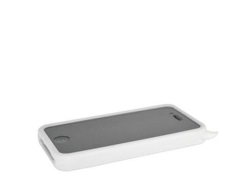 Белый силиконовый чехол дьявол для iPhone 4, 4S
