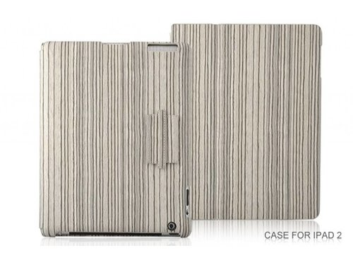 Деревянный чехол книжка для iPad 2 3 4 Бежевый