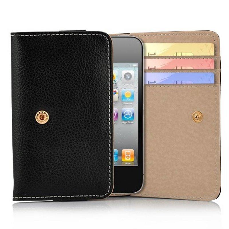 Кожаный кошелек для iPhone 4, 4s Черный