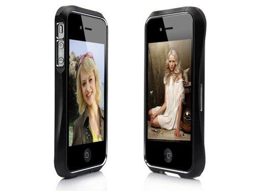 Алюминиевый металлический бампер для iPhone 4, 4S Черный