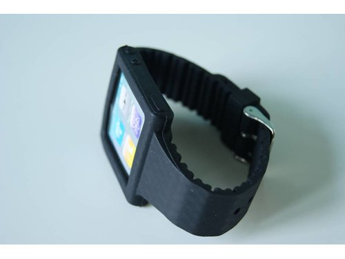 Черный чехол часы Strap Case iPod 6G nano