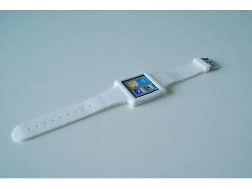 Белый силиконовый чехол часы Strap Case iPod 6G nano
