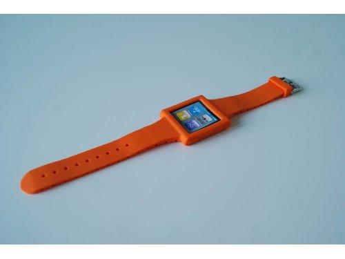 Оранжевый силиконовый чехол часы Strap Case iPod 6G Nano