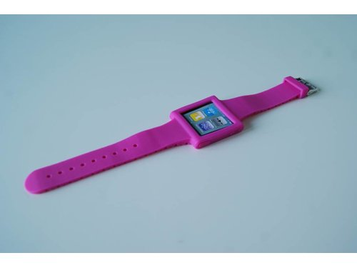 Розовый ремешок чехол часы Strap Case iPod 6G nano