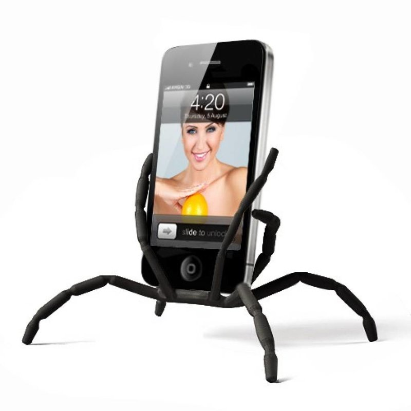 Черный Spider Dock подставка подиум для iPhone 4, 4s и других смартфонов