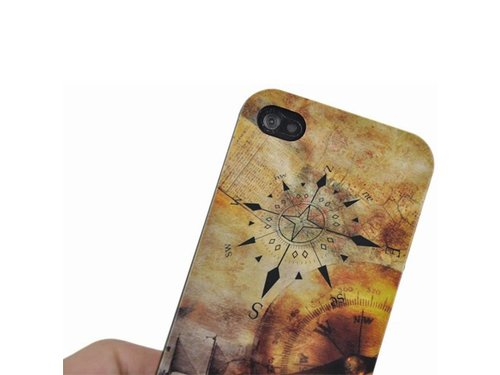 Классический компас задняя крышка чехол для iPhone 4,4S