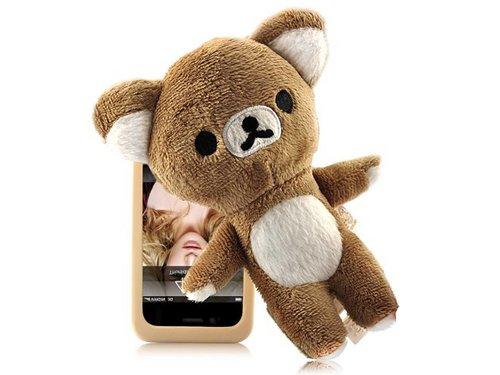 Оригинальный чехол с куклой Rilakkuma для iPhone 4, 4S