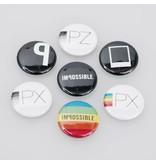Набор из 7 оригинальных значков Impossible Project